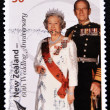 Stamp commemorating the 60th wedding anniversary of Queen Elizabeth II — Stock Photo