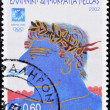 Royalty-Free Stock Photo: Stamp shows an illustration alluding to the 2004 Athens Olympics
