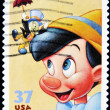 Stamp with Pinocchio — Stock Photo