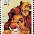Royalty-Free Stock Photo: Stamp with Mufasa and Simba