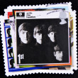 Постер, плакат: Stamp with the beatles