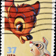 Stamp whit bambi — Stock Photo