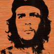 Che Guevara in the brick wall — Stock Photo
