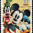 Stamp with Goofy, Mickey Mouse and Donald Duck — Stock Photo