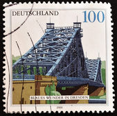 Stamp showing the bridge of Dresden — Stock Photo