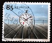 Timbre montre l'image d'un chronomètre — Photo
