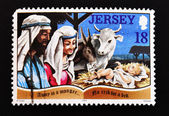 Stamp shows a meeting of the Nativity — Stock Photo