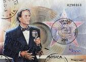 Stamp with Julio Iglesias — Stock Photo