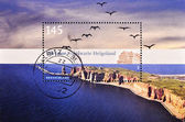 Stamp shows the small island of Heligoland — Stock Photo