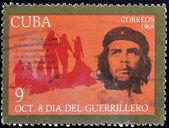 Stamp shows Ernesto Che Guevara, legendary guerrilla — Stock Photo
