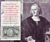 Stamp commemorating the 500th anniversary of Columbus — Stock Photo