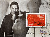 Stamp showing the famous Spanish designer Jesús del Pozo — Stock Photo