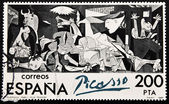 "Stamp shows painting by Pablo Picasso ""Guernica"" — 图库照片"