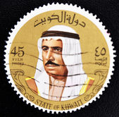 Stamp shows image of Sheik Sabah — Stock Photo