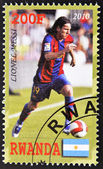 Stamp showing lionel messi — Stock Photo