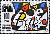 Stamp commemorating the centenary of the birth of Pablo Picasso — Stock Photo