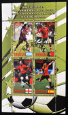 Stamp with top football players of the world — Stock Photo