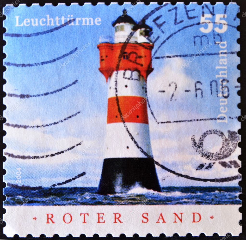 GERMANY - CIRCA 2004: A stamp printed by Germany, shows shot put, circa 2004 — Stock Photo #6904595