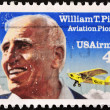 Stamp shows William T. Piper and Piper Cub, Aviation Pilot — Stock Photo