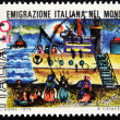 Stock Photo: Stamp which refers to Italiemigration in world