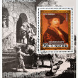 Royalty-Free Stock Photo: Stamp shows Rembrandt self-portrait