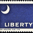 Stamp shows The Fort Moultrie Flag 1775 — Stok fotoğraf
