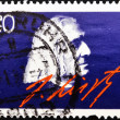 Stamp shows portrait Franz Liszt, - Stock Photo