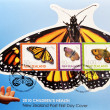 Stamp shows different butterflies, — Stock Photo