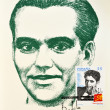 Stamp showing the universal poet Federico García Lorca — Stock Photo