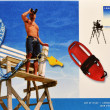 Royalty-Free Stock Photo: Stamp shows to lifeguards