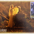 Постер, плакат: Stamp shows Lady Galadriel character of the Lord of the Rings