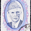 PAKISTAN-CIRC1952: stamp printed in PAKISTAN shows image of Muhammad Ali Jinnah was 20th century lawyer, politician, statesmand founder of Pakistan, circ1952. — Stock Photo #6988053