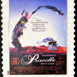 Stamp shows image of the movie Priscilla, Queen of the Desert — Stock Photo