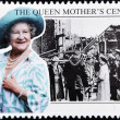 Stock Photo: Stamp commemorating centenary of Queen Mother