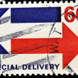 Stamp showing Air Mail Special delivery — Stock Photo #6988218
