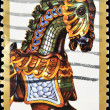 Stamp shows image of a carousel horse - Stock Photo