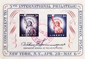 邮票中的第五届国际集邮展览荣誉 — 图库照片