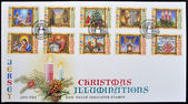 Stamp shows different images of Christmas — Stock Photo