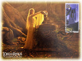Stamp shows Lady Galadriel, character of the Lord of the Rings — Stock Photo