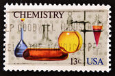 Stamp shows different chemical materials — Stock Photo