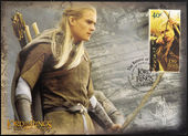 Stamp shows Legolas, character in the movie The Lord of the Rings — Stock Photo