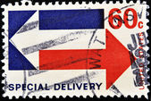 Stamp showing Air Mail Special delivery — Stock Photo