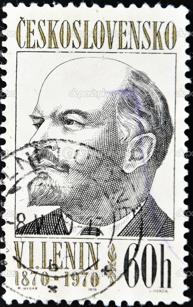 CZECHOSLOVAKIA - CIRCA 1970: A Stamp printed in Czechoslovakia shows Lenin, circa 1970  — Stock Photo #6987949