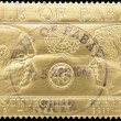 Постер, плакат: Stamp shows the face of Winston Churchill and John Fitzgerald Kennedy