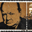 Stock Photo: Stamp showing Winston Churchill