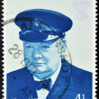 Постер, плакат: Stamp shows Sir Winston Spencer Churchill British statesman