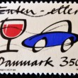 Stamp shows car and wine glass — Stock Photo #6993225