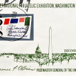 Stamp shows sixt international philatelic exhibition, Washington D.C — Photo