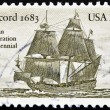 Stock Photo: Stamp shows Concord 1683