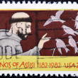 Stamp shows St. Francis of Assisi — Stock Photo